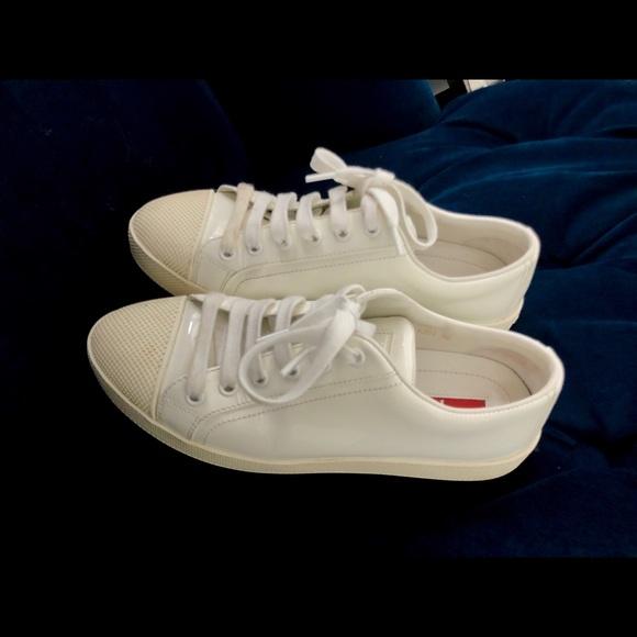 Prada Shoes | Prada Sport White Patent